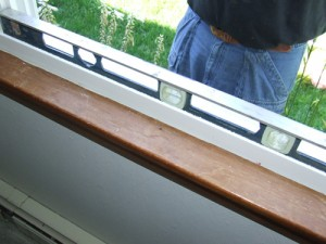 Plumb and Level Replacement Window